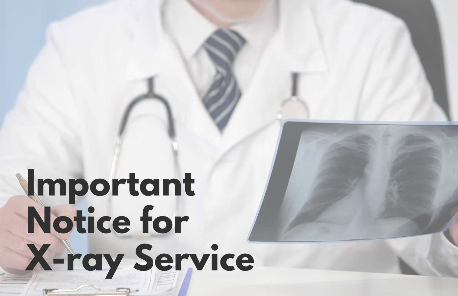 Updates on X-ray Services